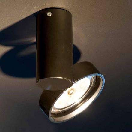 Ručně vyrobená hliníková lampa s nastavitelným prstencem vyrobená v Itálii - Gemina