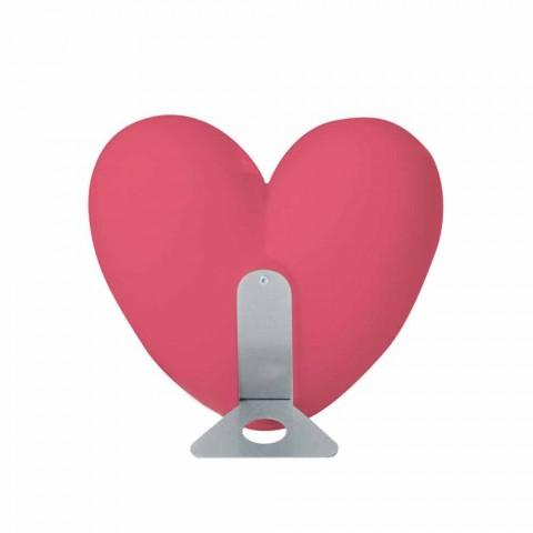 Barevné Slide Love stolní lampa srdce vyrobené v Itálii