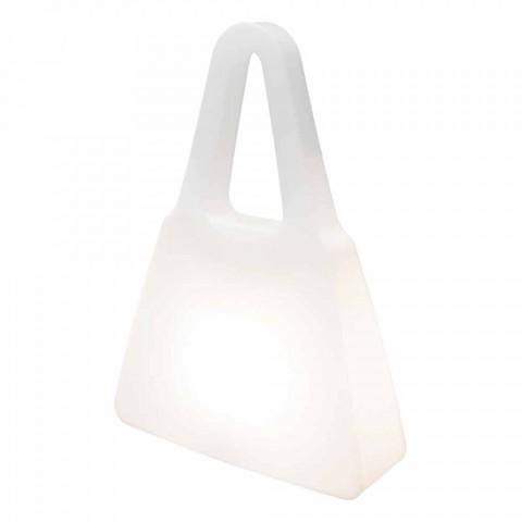 Stolní lampa z bílého plastu moderního designu pro interiér - Borsastar
