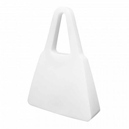Bílá designová stolní nebo stojací lampa pro vnitřní nebo venkovní použití - Borsastar