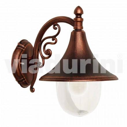 Venkovní nástěnná lampa vyrobená z tlakově litého hliníku, vyrobená Itálie, Anusca