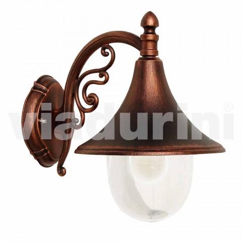 Venkovní nástěnná lampa z tlakového odlitku vyrobeného v Itálii, Anusca