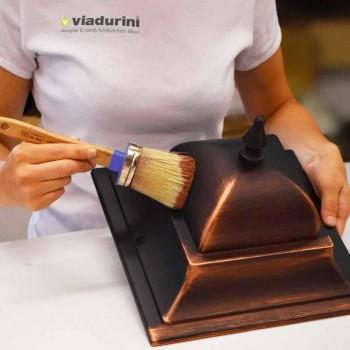 Venkovní nástěnná lampa z tlakově litého hliníku vyrobená v Itálii, Anusca