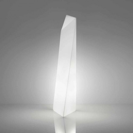 Moderní bílá prisma stojací lampa Slide Manhattan, vyrobená v Itálii