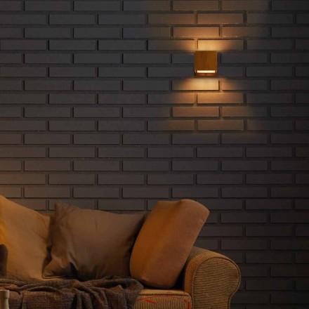 Design lampa stěna v mosazi a oceli 11xH11xsp.10 cm Venuše