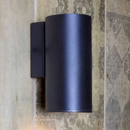 Ručně vyráběná válcová železná nástěnná lampa vyrobená v Itálii - Gemina
