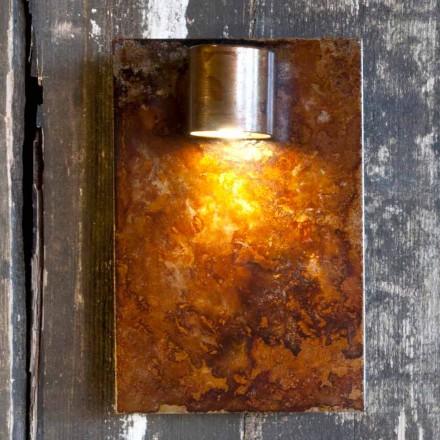 Artisan nástěnná lampa v provedení Iron Corten Made in Italy - Cialda