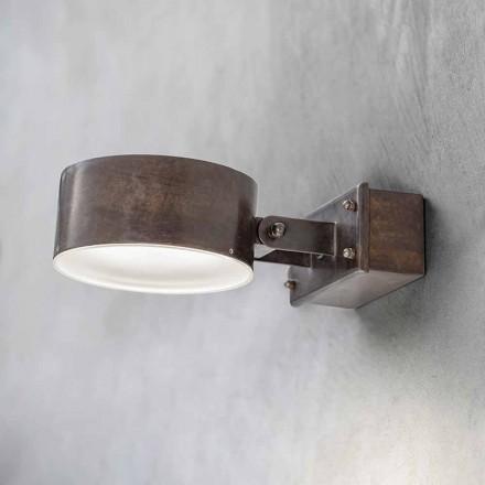 Mosazná nástěnná lampa vyrobená v Itálii - Acelum Aldo Bernardi