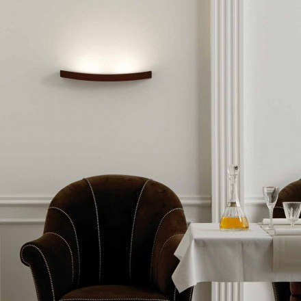 Lampa moderní design ocel zeď L50x H3,5xSp.10 cm Eldora
