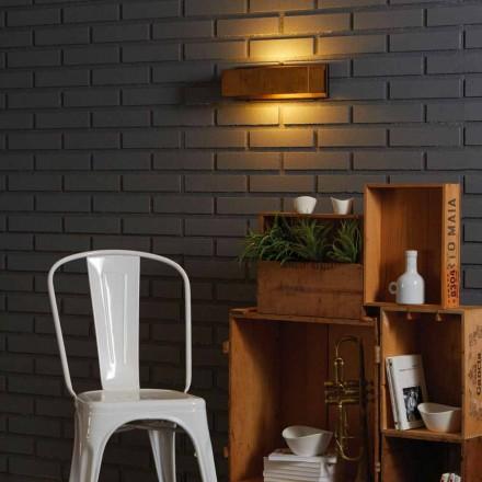 Design lampa stěna z mosazi a nerezavějící 35xH 10xsp.9 cm Harya