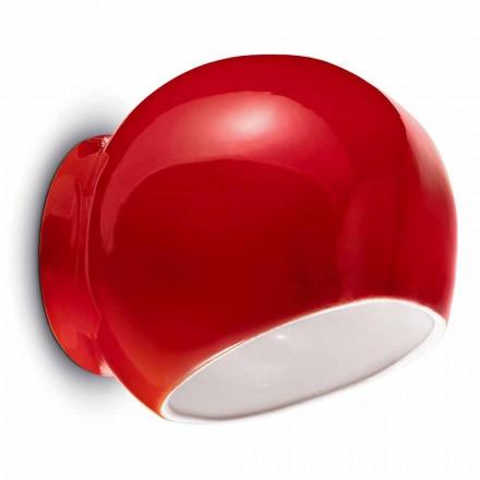 Moderní designová keramická nástěnná lampa vyrobená v Itálii - Ferroluce Ayrton