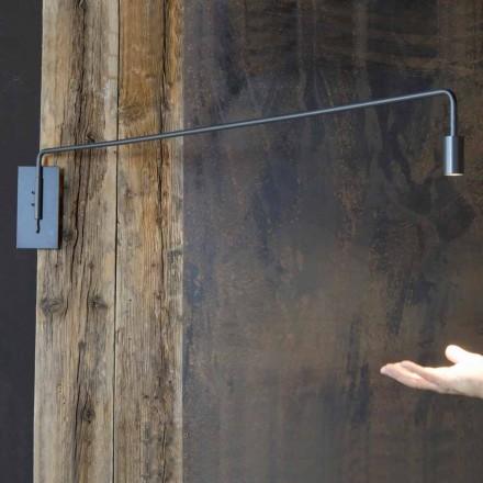 Ručně vyráběná nástěnná lampa se železnou strukturou vyrobená v Itálii - Solana