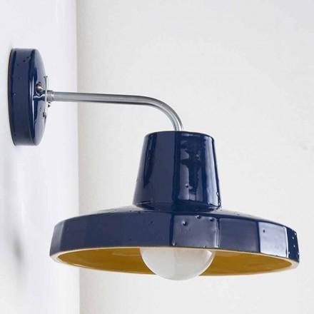 Moderní nástěnná lampa v toskánské maioli a mosazi, Rossi - Toscot