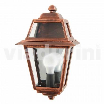Klasická venkovní nástěnná lampa z hliníku, vyrobená v Itálii, Kristel