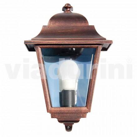 Venkovní nástěnné svítidlo vyrobené z hliníku, vyrobené v Itálii, Aquilina