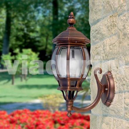 Venkovní nástěnné svítidlo vyrobené z hliníku, vyrobené v Itálii, Anika