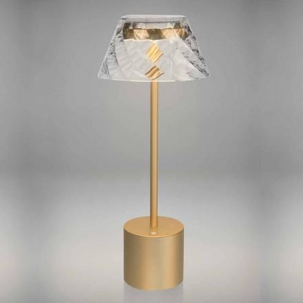 Designová dotyková stolní lampa z kovu a akrylu - Tagalong