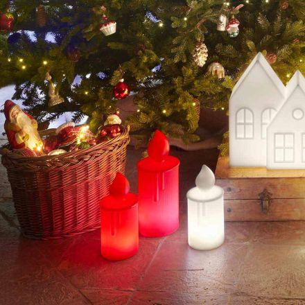 Bílá nebo červená svítící stolní lampa od společnosti Slide - Fiammetta