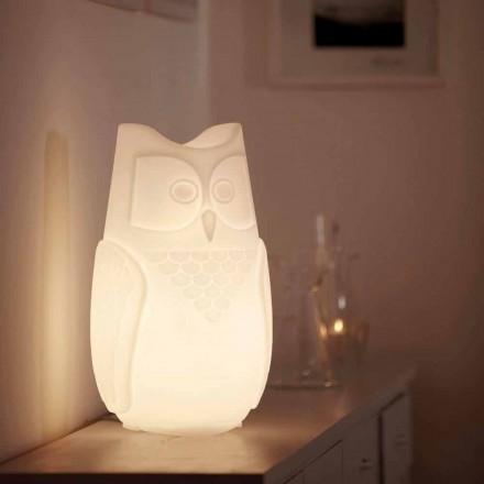 Stolní lampa barevná sova Slide Bubo, vyrobená v Itálii