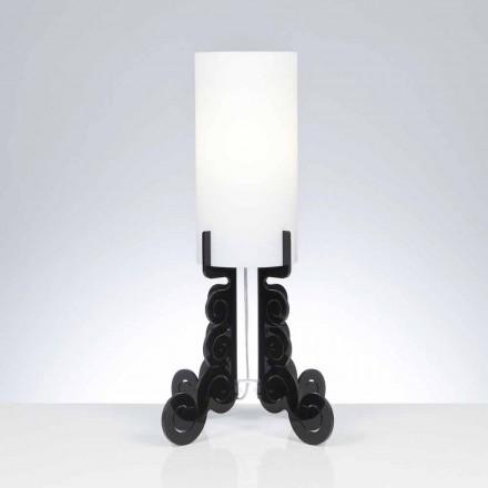 Stolní lampa s válcovou stínidlo, průměr 26,5 cm, Samanta