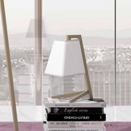 Stolní lampa se strukturou z kovu a textilu vyrobená v Itálii - Barton