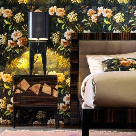 Stolní lampa z masivního dřevěného designu Grilli Zarafa vyráběla z Itálie