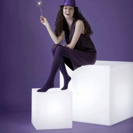 Bílá tabulka / stojací lampa Slide Cubo, vyrobené v Itálii