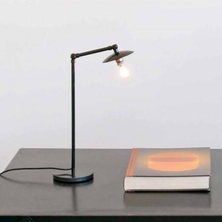 Železná stolní lampa s nastavitelným světlem vyrobená v Itálii - Amino