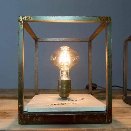 Stolní lampa ze železa a keramiky vyráběná ručně v Itálii - Floria