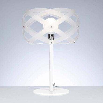Lampa průměru bílé saténové methakrylátu Tabulka 40 cm Vanna