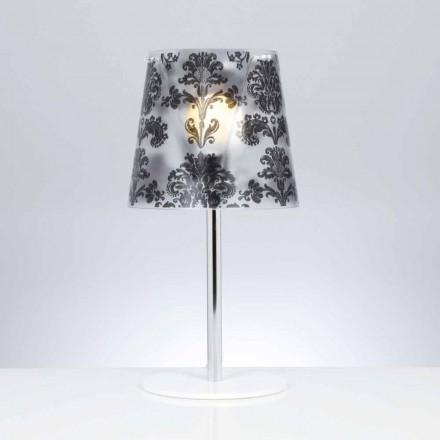 Polykarbonát stolní lampa s výzdobou, průměr 30 cm, Mara