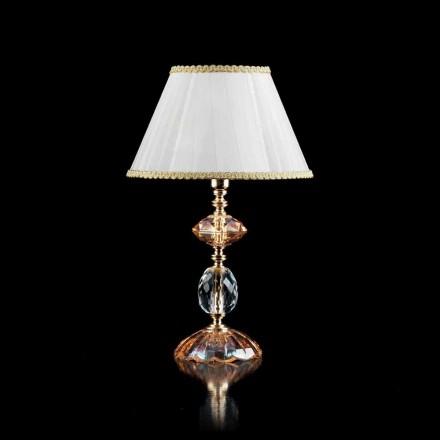Skleněná stolní lampa a Crystal Belle, made in Italy