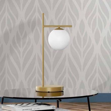 Moderní stolní lampa v mosazi a skle vyrobená v Itálii - Carima