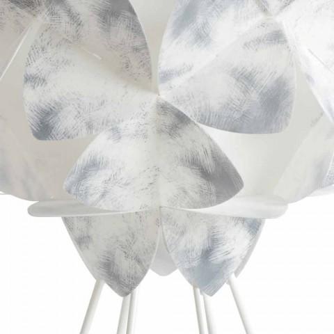 Současná stolní lampa bílého kovu, průměr 46 cm, Kaly