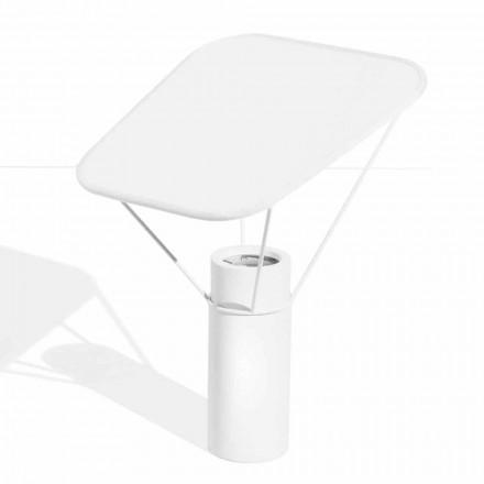Moderní stolní lampa z pryskyřice a bílé bavlny vyrobená v Itálii - Fiera