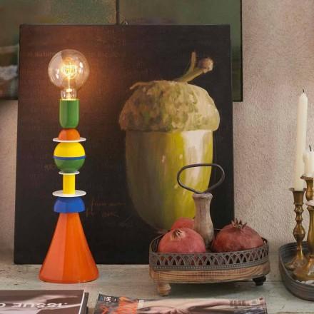 Vícebarevná stolní lampa Slide Otello v hliníku vyrobené v Itálii