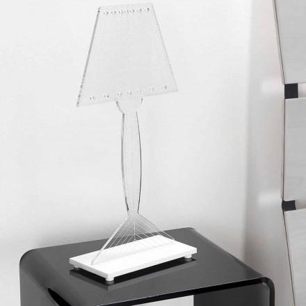 Lisovaná stolní lampa z plexiskla, LED světlo, Ferla