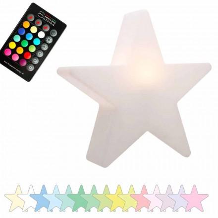 Solární nebo LED stolní lampa, design hvězdy z polyethylenu - Ringostar