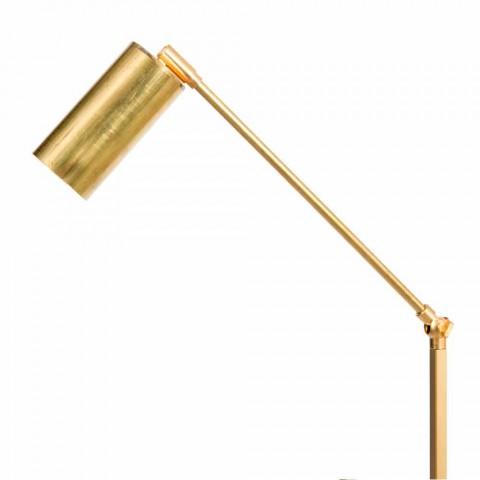 Artisan stojací lampa z přírodní mosazi s LED diodou Made in Italy - Agio