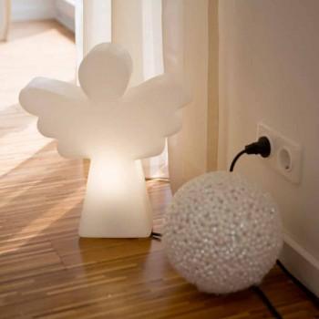 Bílá stojací lampa E27, led nebo solární anděl moderní design - Angelostar