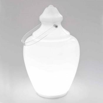 Bílá plexisklová designová lampa v Etruské Giaře - Ladymarian