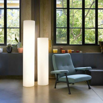 Slide Fluo válcová stojací lampa vyrobená v Itálii