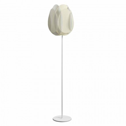 Stojací lampa s perlou bílým stínítkem, diam.40xH195 cm, Lora