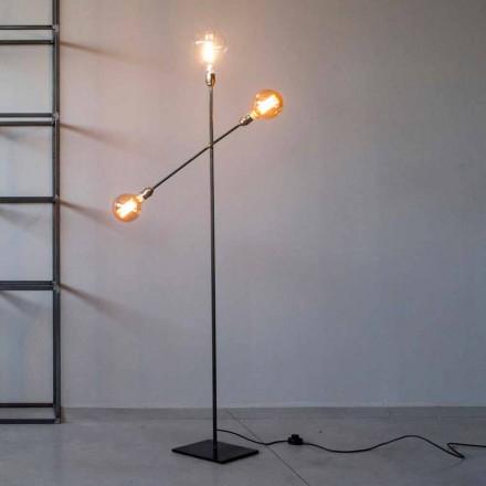 Designová stojací lampa ze železa s nastavitelnými světly vyrobená v Itálii - Melita