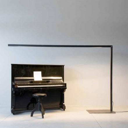 Designová stojací lampa z černého železa s LED lištou Made in Italy - Barra