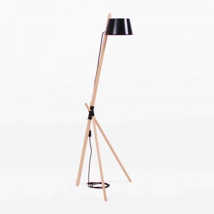 Designová lampa z bukového dřeva a lakovaného kovu - Avetta