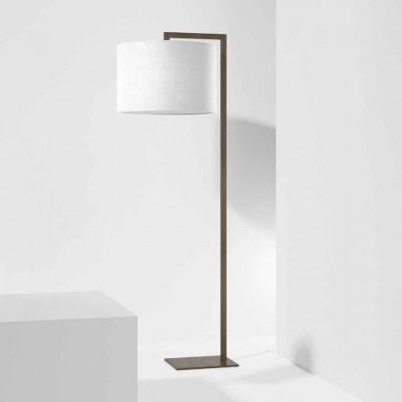 Designová kovová stojací lampa s plátěným stínidlem vyrobené v Itálii - Bali