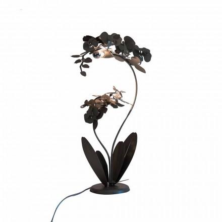 Moderní designová kovová podlahová lampa vyrobená v Itálii - Amorpha