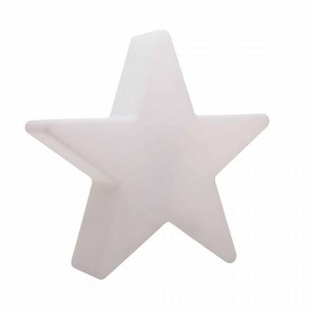 Stojací lampa ve tvaru bílé nebo červené hvězdy, moderní design - Ringostar