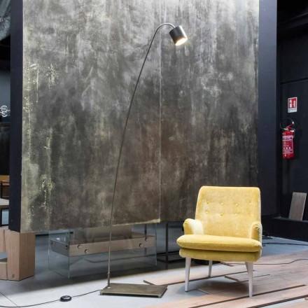 Železná stojací lampa s hliníkovým stínidlem vyrobená v Itálii - Alberta